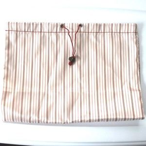 Handbags - Peppermint Striped Red Pink Ivory Shoe Storage Bag